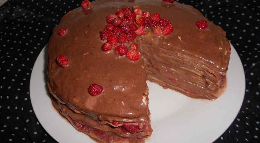 Шоколадный крем для блинного торта