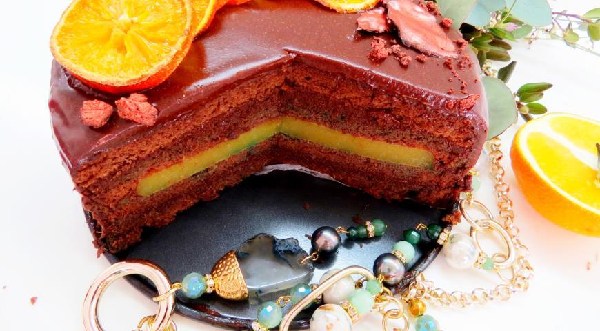 """Торт """"Апельсиновый трюфель"""". Шаг 7"""