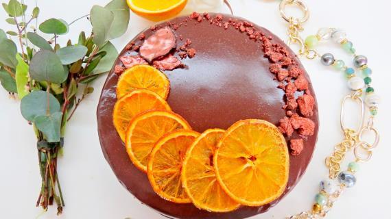 """Торт """"Апельсиновый трюфель"""""""