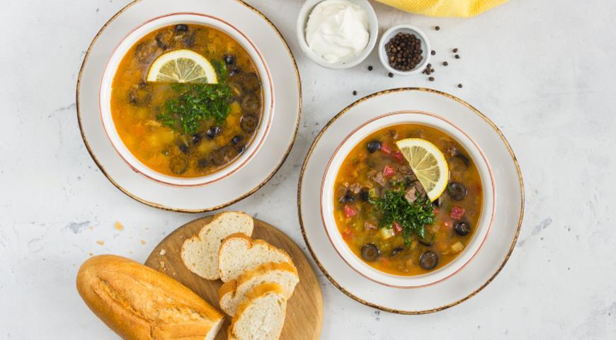 Суп солянка сборная мясная классическая рецепт с фото пошаговый