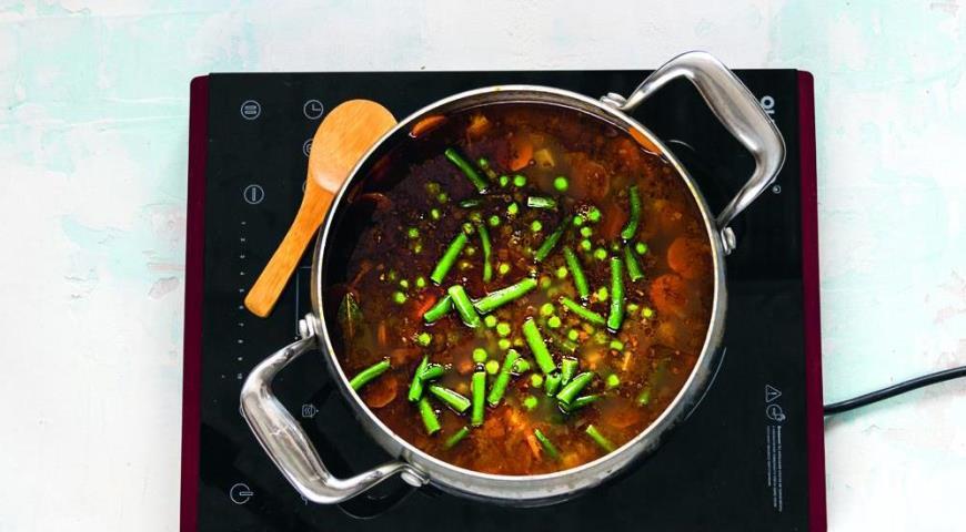 Суп с овощами, говядиной и гречкой. Шаг 5