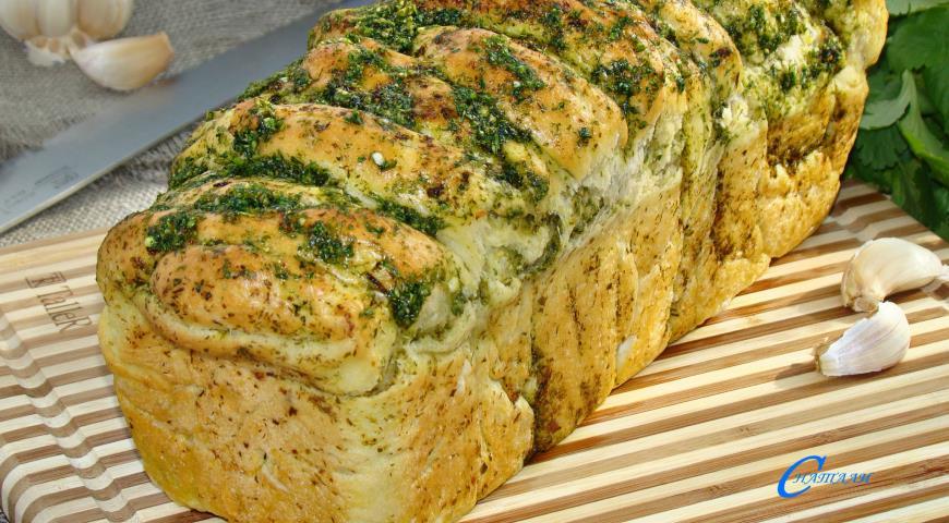 с рецепт с фото чесноком хлеба