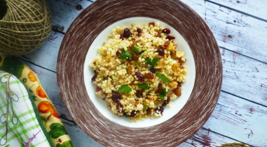 салат из пшеницы и клюквы рецепт