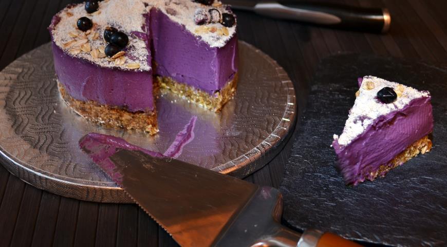 Черничный тортик (без выпекания). Шаг 6