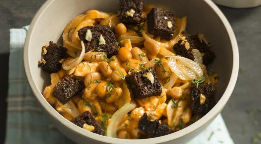 салат с фасолью и луком рецепт с фото