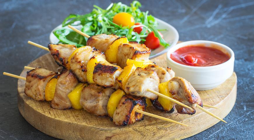 мясо с персиками рецепт с фото