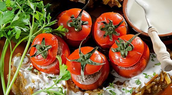 Помидор дулма (фаршированные помидоры), пошаговый рецепт с фото