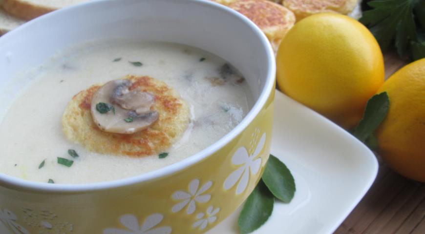 грибной суп рецепт с гренками