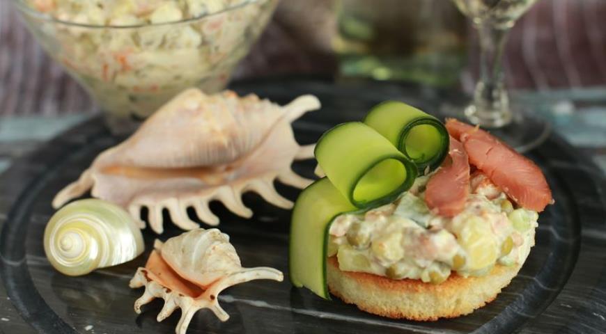 салат морской бриз с рыбой рецепт
