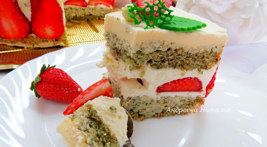 Мятный торт с клубникой. Шаг 24