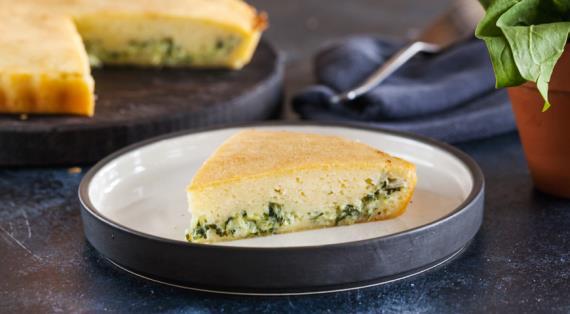Капустный пирог с зеленью на сметане