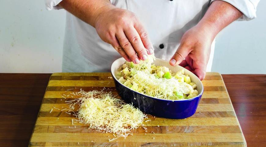Запеканка из цветной капусты и кабачков. Шаг 4