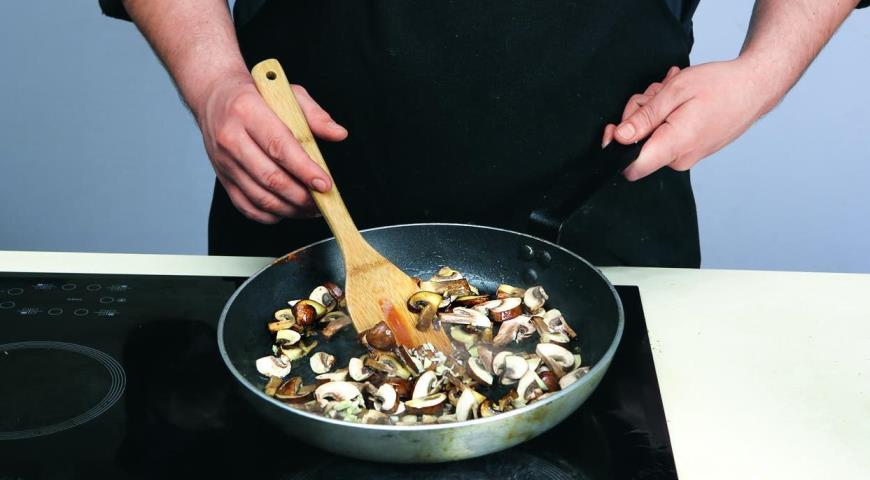 Фасоль сперловкой игрибами, пошаговый рецепт с фото