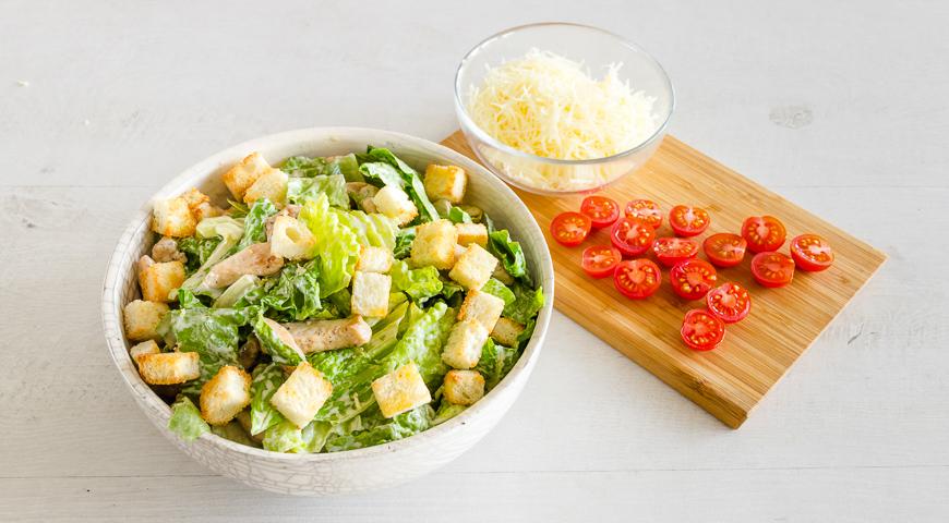 Салат Цезарь с курицей в домашних условиях, пошаговый рецепт с фото