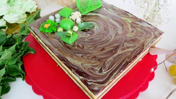 """Торт """"Мятная опера"""""""