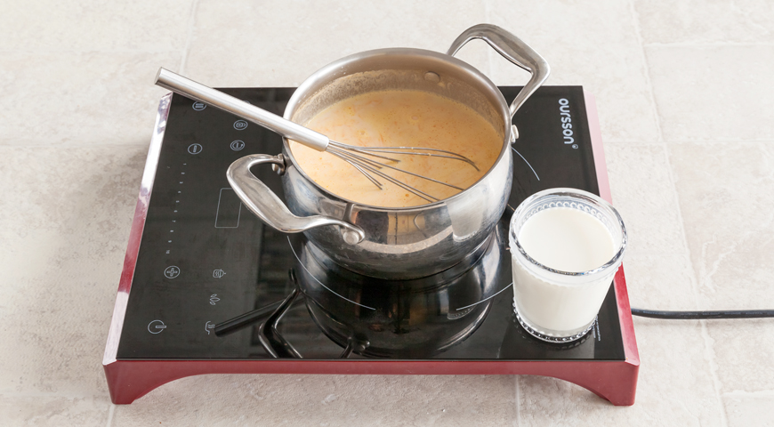 Молочный кисель с морковью. Шаг 3