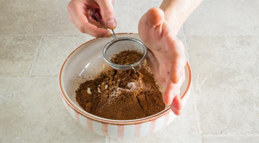 Фото приготовления рецепта: Шоколадный тарт с соленой карамелью, шаг №1