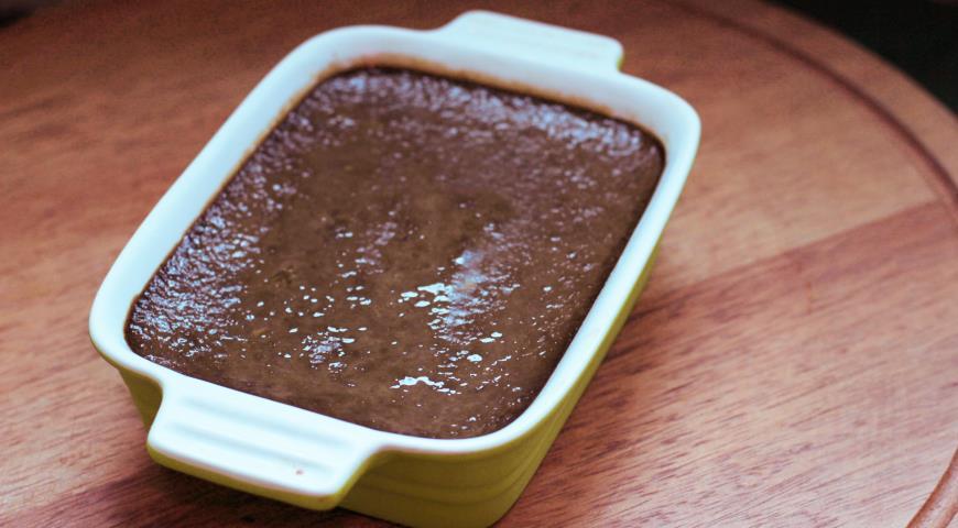 Запеченный крем из печени с грибами под брусничным желе. Шаг 5