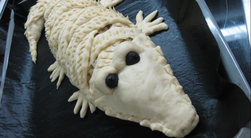 Пирог крокодил пошаговый рецепт с фото