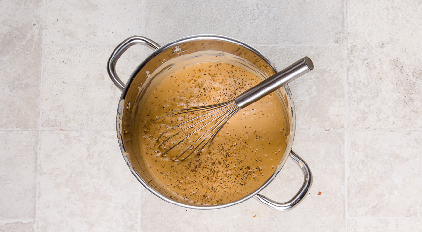 Креветочный биск с обжаренными креветками. Шаг 4
