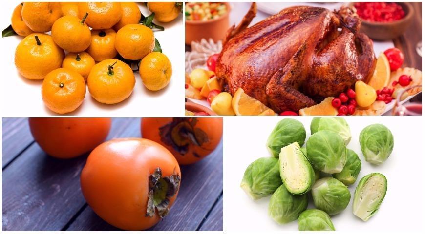 Сезонные продукты декабря: авокадо, хурма, мандарины, индейка и брюссельская капуста
