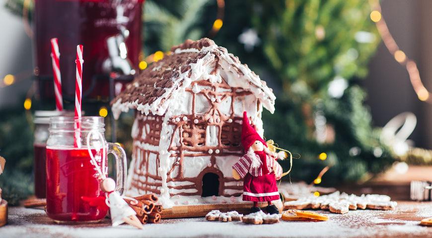 Как сделать пряничный домик , пошаговый рецепт с фото