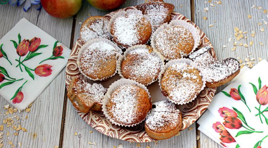 Овсяные кексы с яблоком и корицей