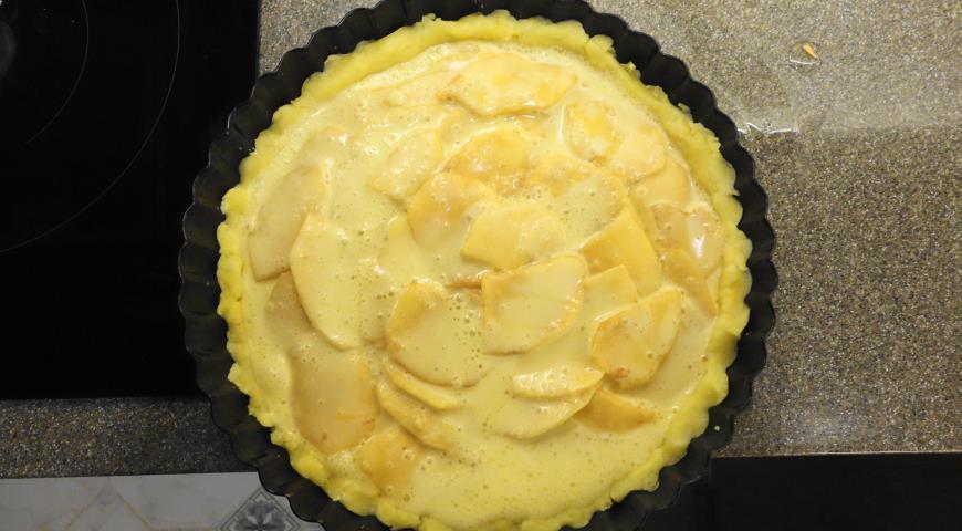 Яблочный пирог (Tarte vergeoise aux pommes). Шаг 11