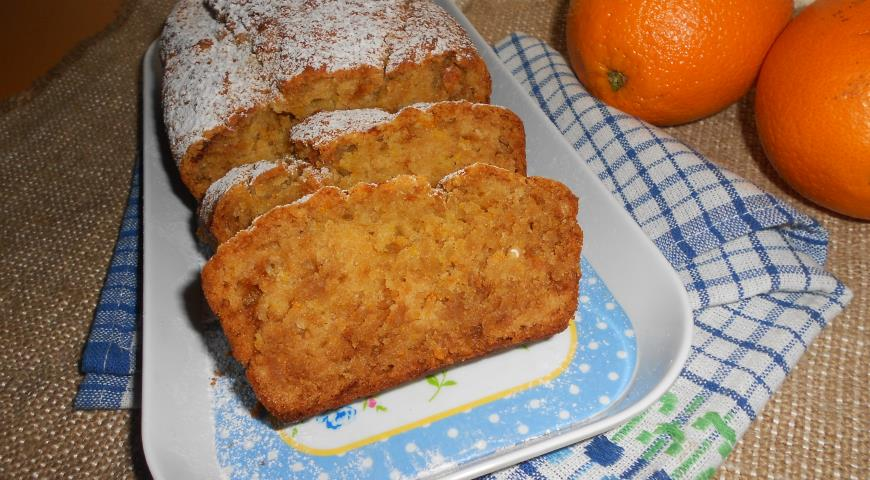 Пісний кекс з апельсинами