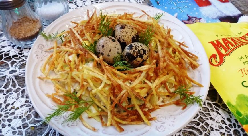 как сделать гнездо глухаря салат