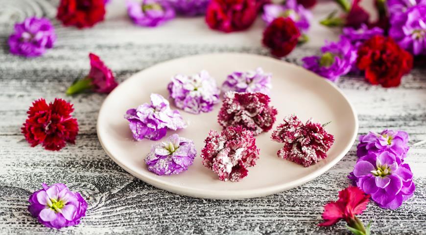 Засахаренные цветы картинки