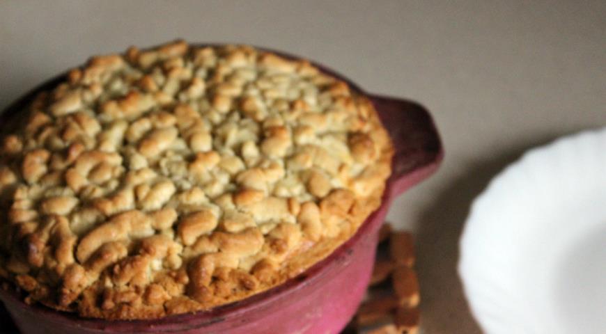 Песочный пирог с творогом и хурмой. Шаг 14