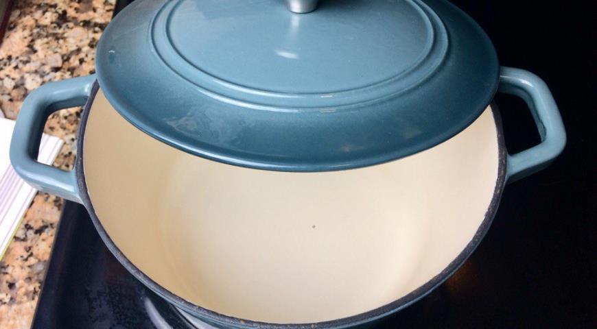 Овощной перловый суп-пюре с луком-пореем и шампиньонами. Шаг 6