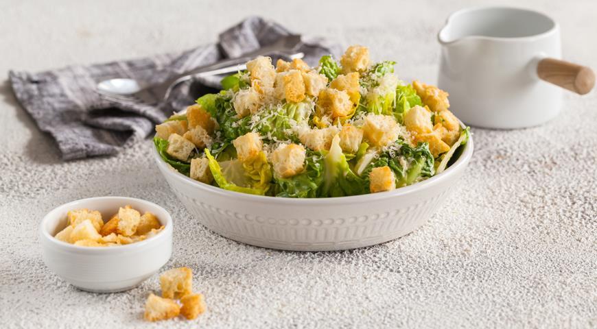 правельный рецепт салата цезаря