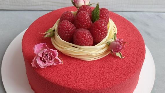 Малиновый муссовый торт рецепт пошагово 47