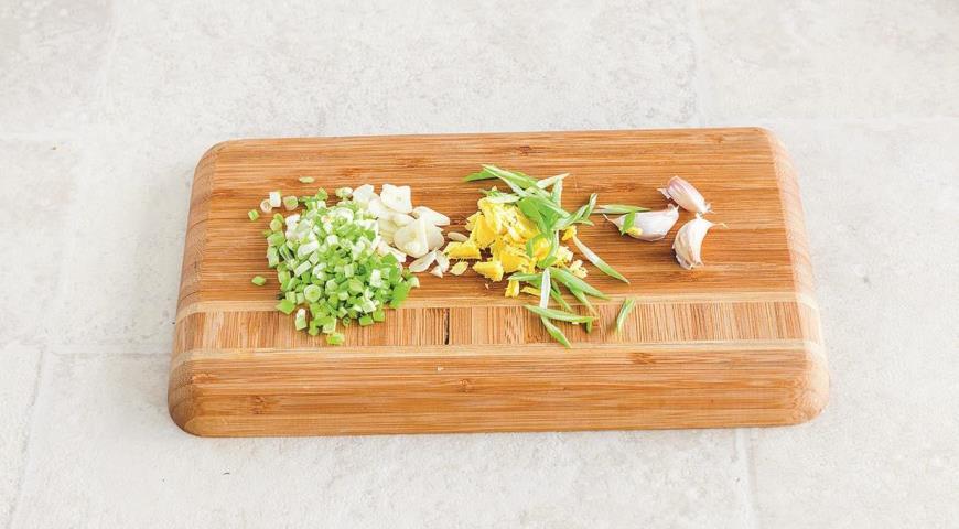 Жареный рис с имбирем и зеленым луком, пошаговый рецепт с фото