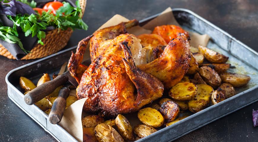 приготовление цыпленка в духовке