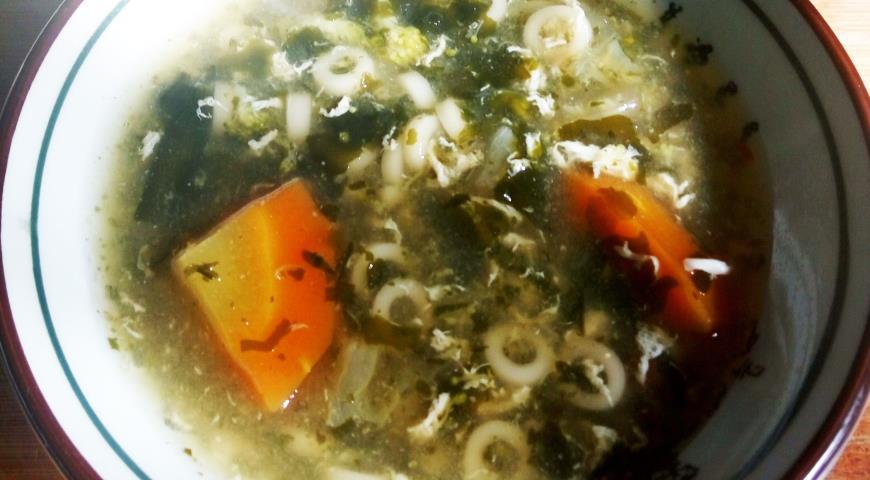 Суп с вакаме в японском стиле в мультиварке