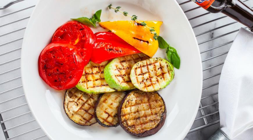 Овощи гриль с базиликом и тимьяном, пошаговый рецепт с фото
