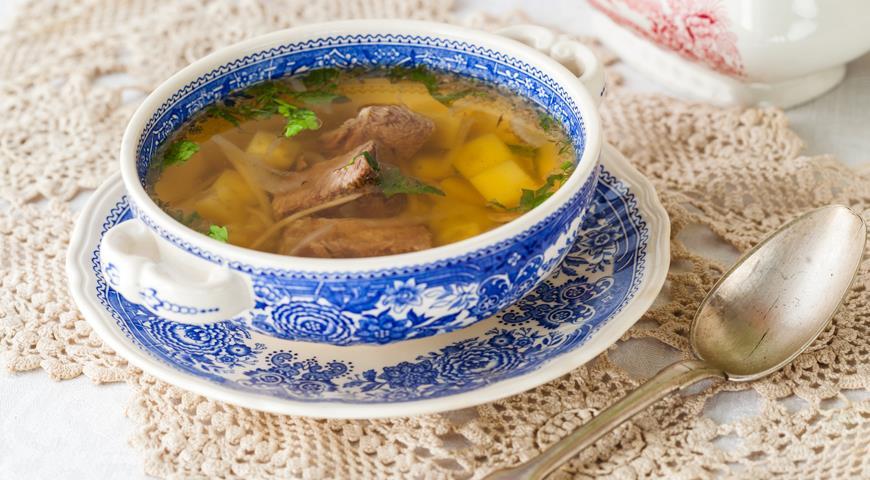 картофельный суп с говядиной рецепт