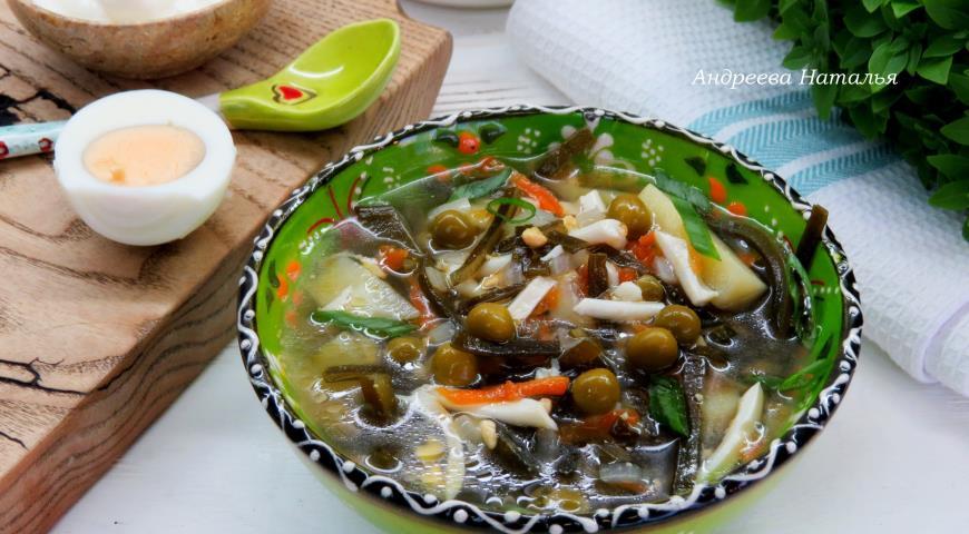 суп из морской капусты консервированной