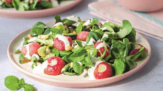 Салат из печеной редиски