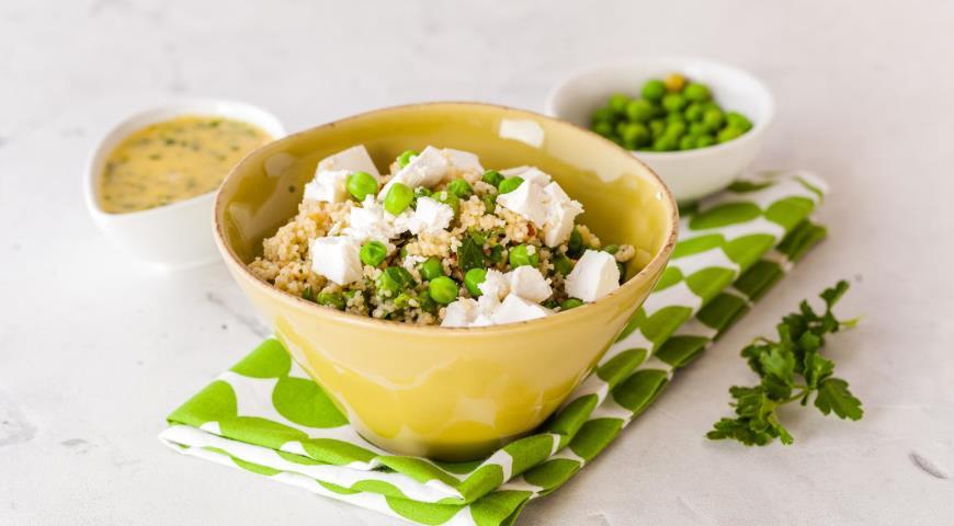 Салат из кускуса с зеленым горошком, пошаговый рецепт с фото