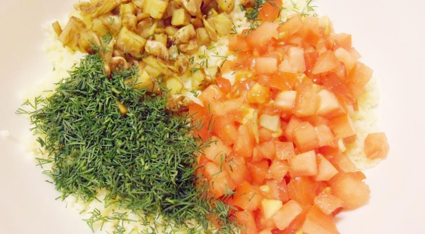Баклажаны фаршированные кускусом и помидорами. Шаг 3
