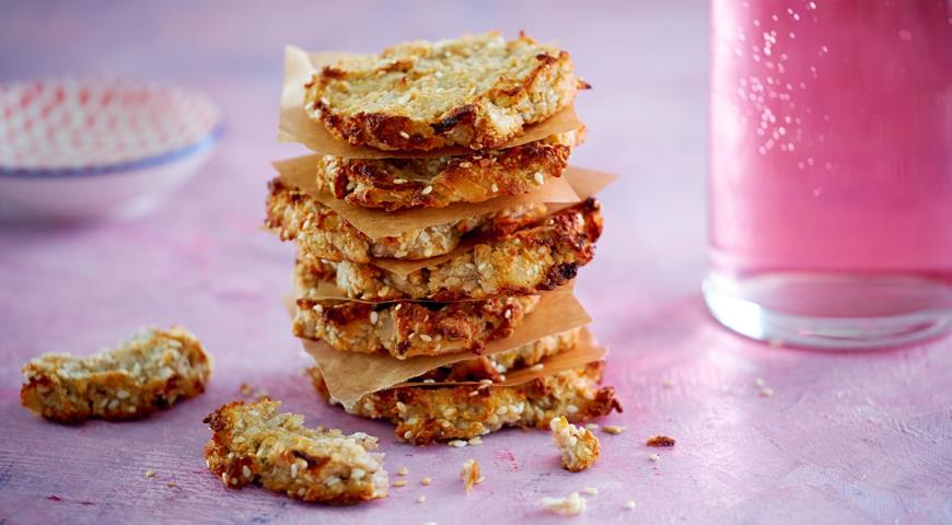 Кокосово-бананове печиво з кунжутом, без борошна і цукру