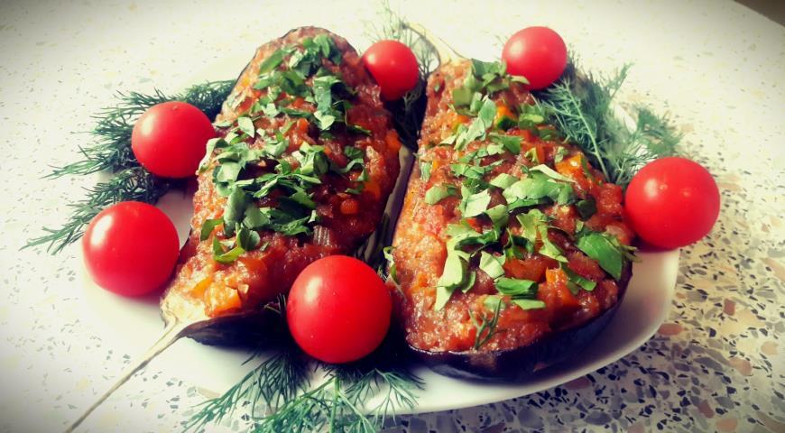 Баклажаны фаршированные овощами - imam bayildi. Шаг 5