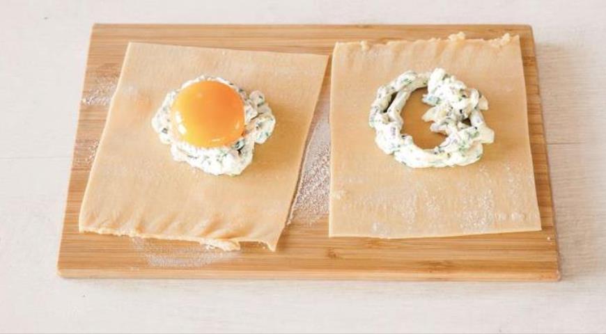 Равиоли с яйцом и рикоттой. Шаг 7