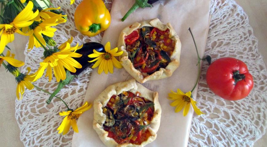 Открытый овощной пирог 2