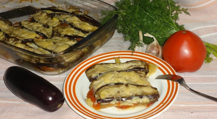 Запіканка з кабачків і баклажанів