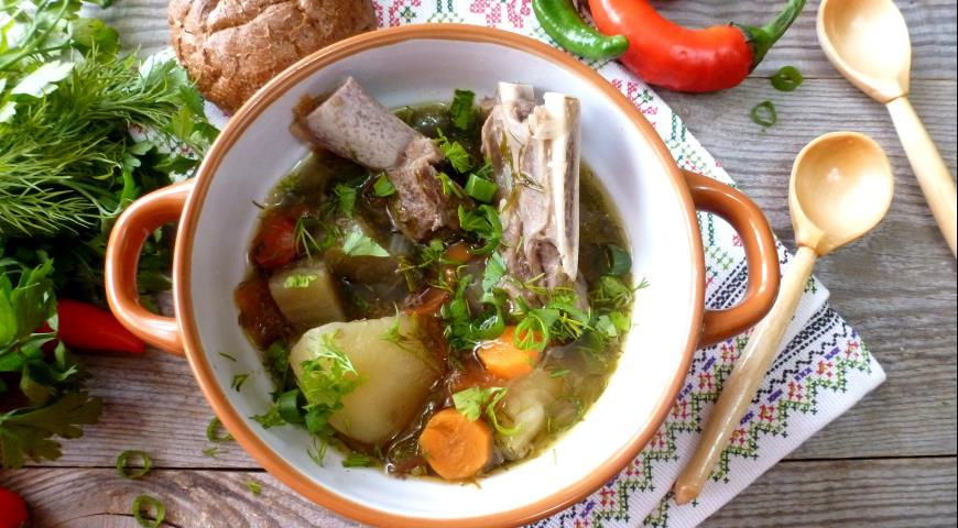 Шулюм с бараниной и овощами